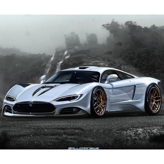 Tesla R45 Based Off The Saleen S7 And Designed By Khyzyl