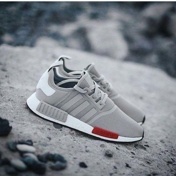 Adidas Nmd Grey Red White