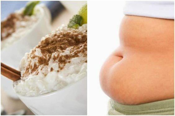 Eet rijstpudding en verlies gewicht