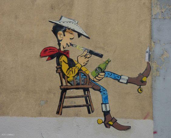 by French street artist Big-ben (Lyon, France), 2014.