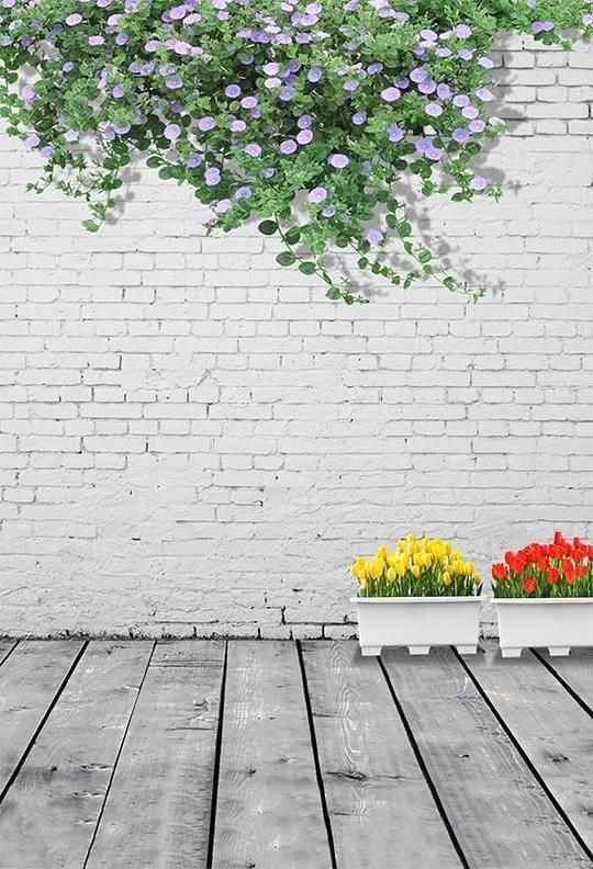 Old White Brick Wall Lights Photography Backdrop S 2919 Brick Wall Backdrop Wall Backdrops Flower Wall Backdrop