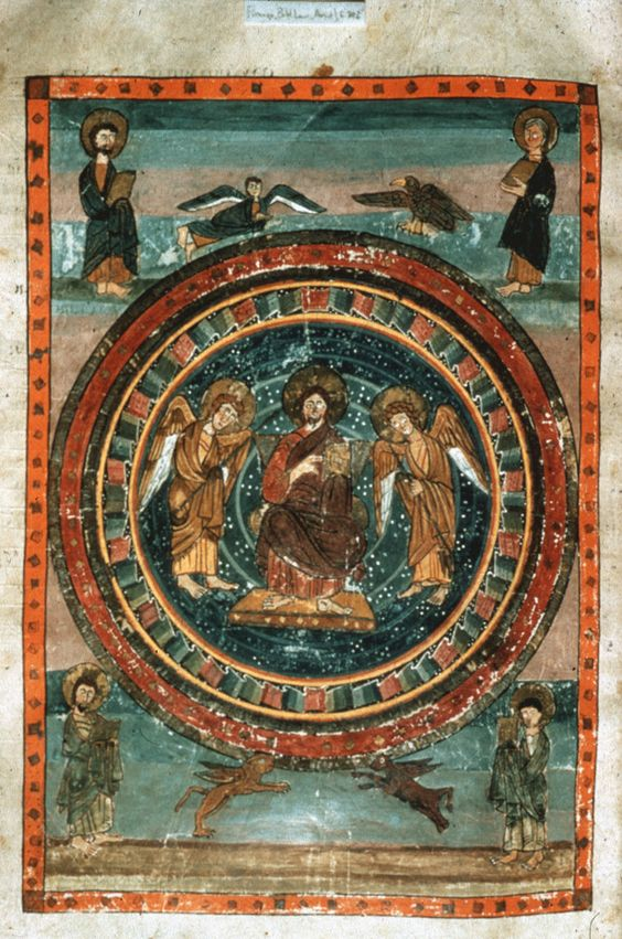 Bible Amiatinus: Christ in Majesty Early Christian ca. 700 CE Florence, Laurentian Library Ms.Cod. Amiat.1, folios 796v