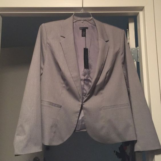 Nwt lined gray pinstripe blazer Never worn. Net blazer.  Size 24 Lane Bryant Jackets & Coats Blazers