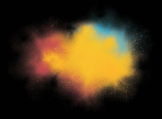 Free psd color splash HR - photoshop texture, pigments, colors painting. Graphic ressources.