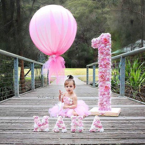 numeros decorados para cumpleaños de niña