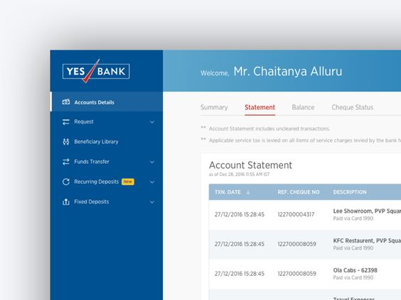 Yes Bank Website Redesign
