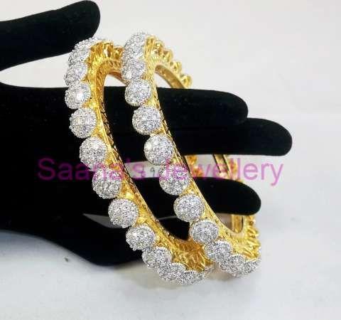 2.8 Unique American Diamond Bangles