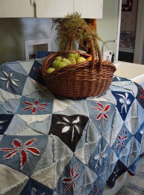 Denim quilt made for Parla   Made by Barbara H. Cline: