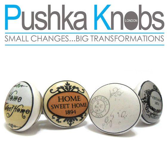 vintage pushka cupboard knobs by pushka knobs | notonthehighstreet.com