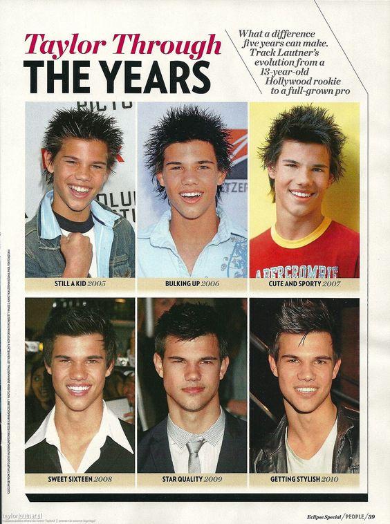 A revista People ilustrou o passar dos anos na carreira de Taylor e como ele mudou nesse meio tempo. Confiram o scan abaixo e concordem comigo que o tempo fez muuito bem a ele!