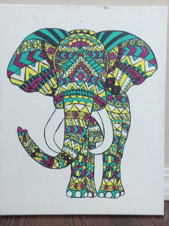 Hobby Lobby Elephant Wall Decor : Tribal elephant artworks and acrylics on