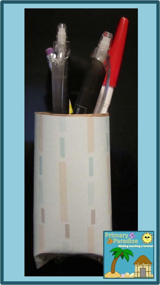 pen holders toilet paper rolls and toilet paper on pinterest. Black Bedroom Furniture Sets. Home Design Ideas