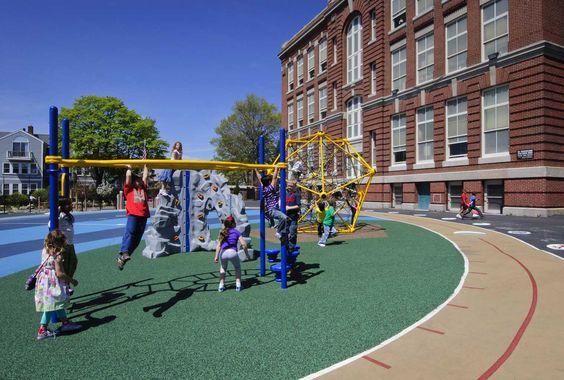 Oliver Hazard Perry Schoolyard – Warner Larson Landscape Architects