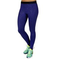 Nike Laufhose - lang Pro Warm Embossed Vixen Tights Da - Damen deep royal blue/black