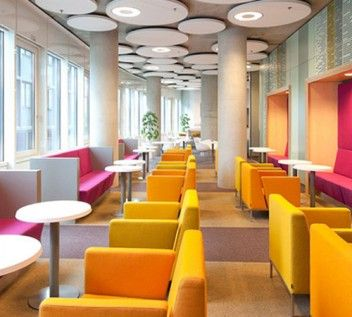 Colorful restaurants pin colorful modern restaurant for Colorful concepts interior design