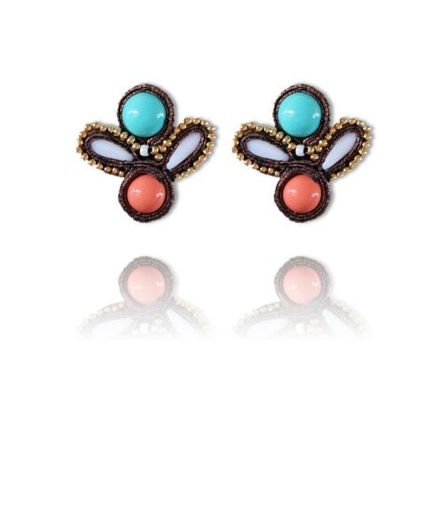 #Soutache #earrings, Soutache #jewerly, #handmade jewerly, #bijoux, #orecchini, #pendientes #fashion #design #madeinitaly - CECYL EARRINGS