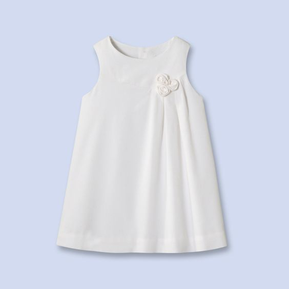robe chasuble en velours blanc pour bebe fille With robe chasuble fille