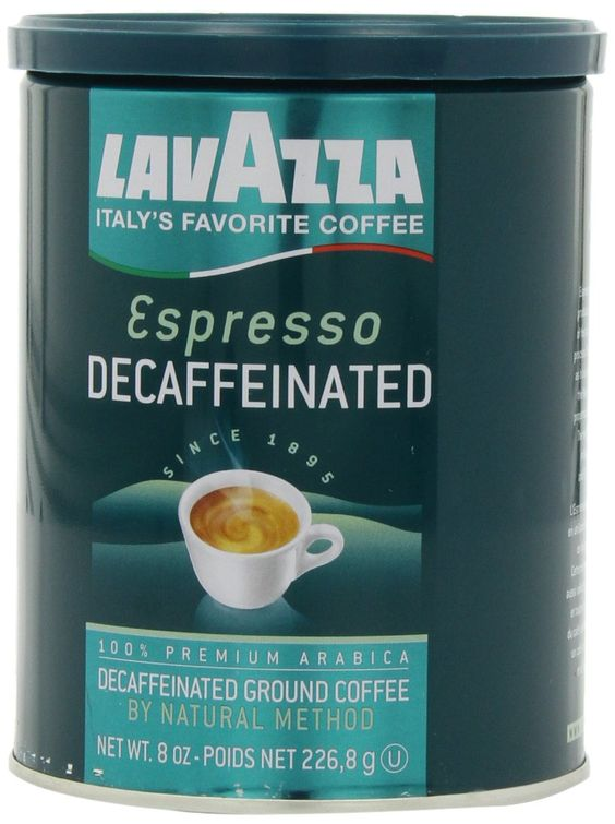 Lavazza Decaffeinated Espresso Ground Coffee, 8-Ounce Cans (Pack of 4)