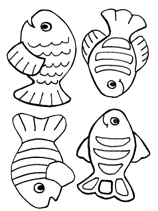Small Fish Coloring Pages Free Creation Page