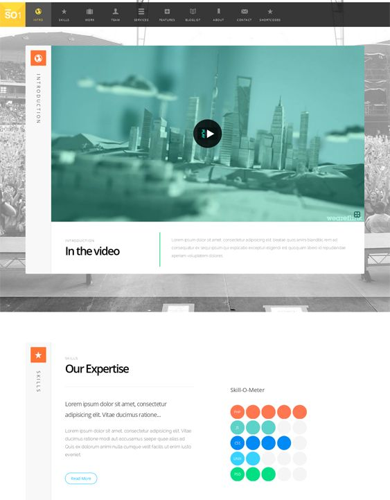 11 best 11 More of the Best One Page Themes for WordPress images on ...
