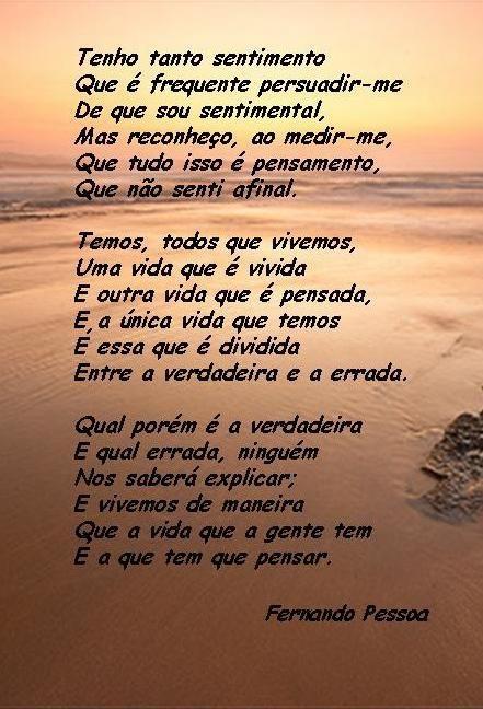 Poesias e Alguns Poemas: Imagem - Poesia de Fernando Pessoa: