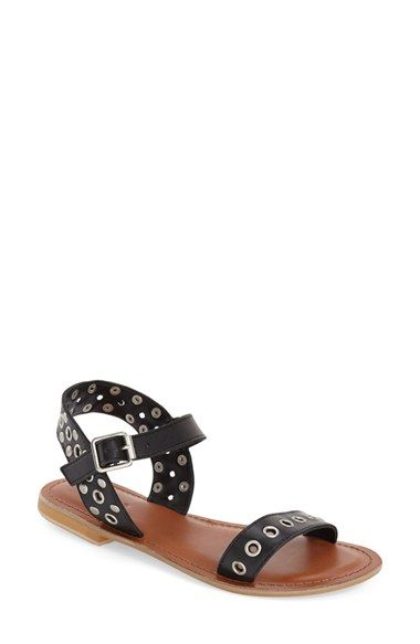 Add a little rock-and-roll attitude to your warm weather outfits with these edgy sandals by Topshop!