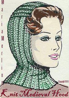 knit medieval hood pattern