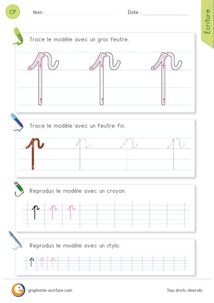 Apprendre crire la lettre p en cursive apprendre - Experte en composants 15 lettres ...