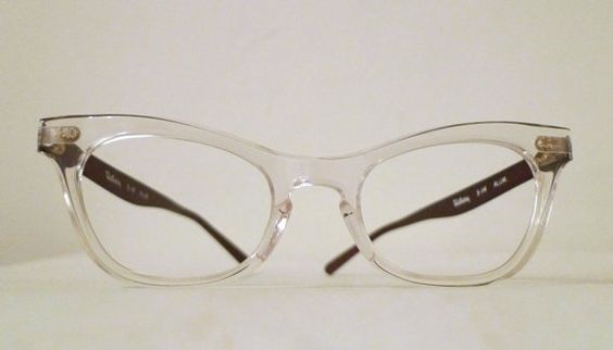 Vintage Clear Cat Eye Eyeglasses (NOS) by BibbysRocket, $134.00