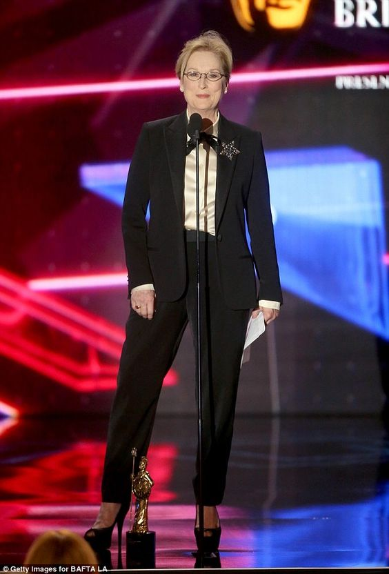 Elegant:Meryl Streep was a prime candidate to scoop an award for excellence in film at th...