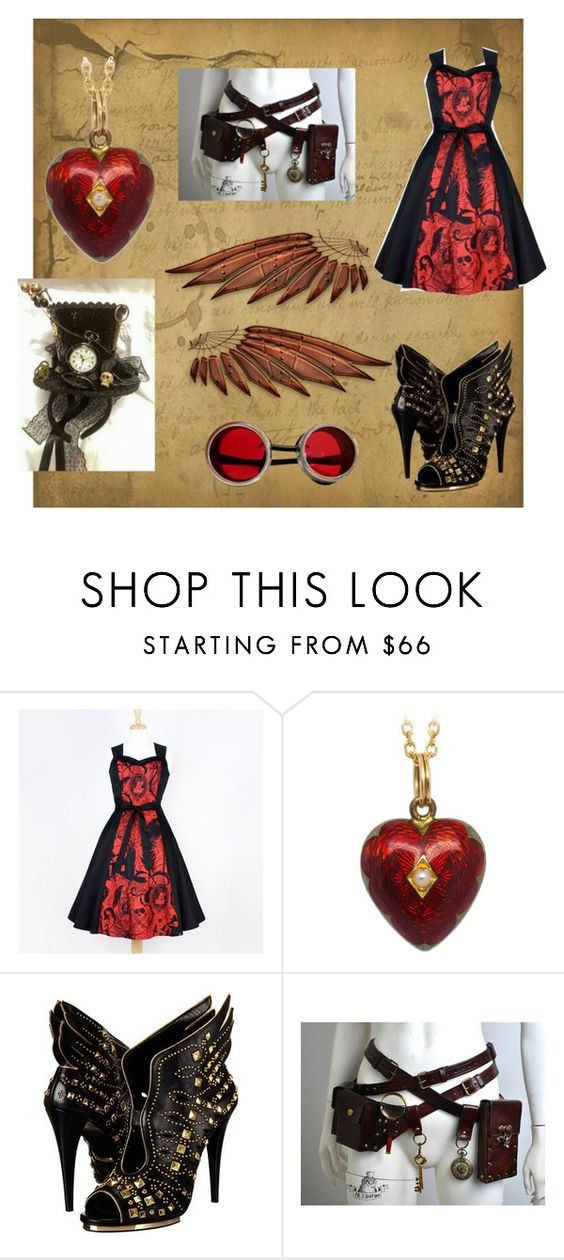 """""""steam punk"""" by makaylahurt74 on Polyvore featuring Roberto Cavalli"""