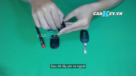 thay pin chìa khóa ô tô Captiva- Carkey.vn