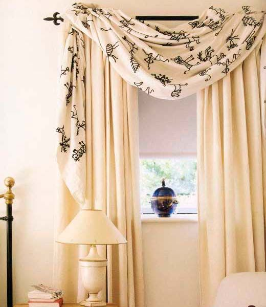 Master bedrooms window treatments and dressing on pinterest for Window valances for bedroom