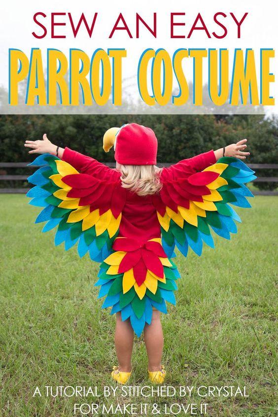 Sew An Easy Parrot Costume Parrot Costume Bird Costume Kids Bird Costume
