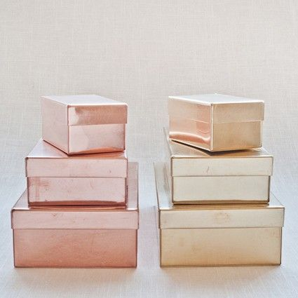 Brass and copper tins by SyuRo in Japan for Muhs Home