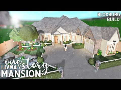 Roblox Bloxburg One Story Family Mansion Youtube Beautiful House Plans House Plans With Pictures Diy House Plans