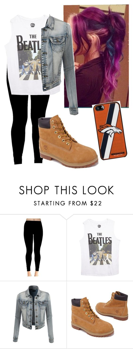 """The Beatles"" by mjlevesque97 ❤ liked on Polyvore featuring Wet Seal, LE3NO and Timberland"