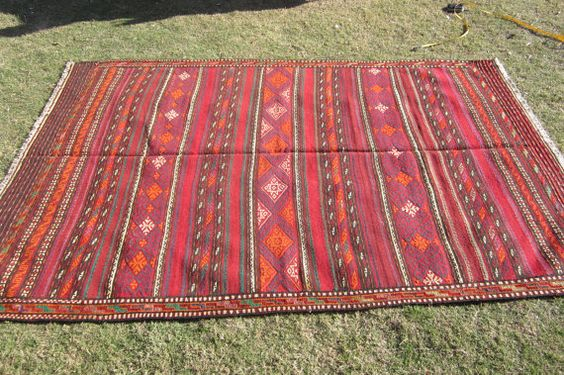 An Aimaq kilim. Would never believe this is 30 years old!