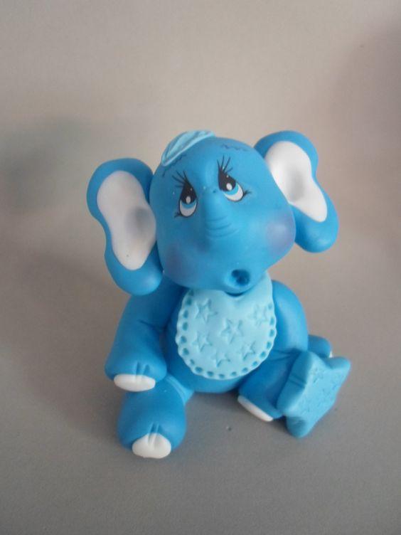 elefantinho em biscuit
