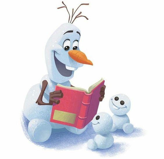 スノーギースに本を読む可愛いオラフの壁紙