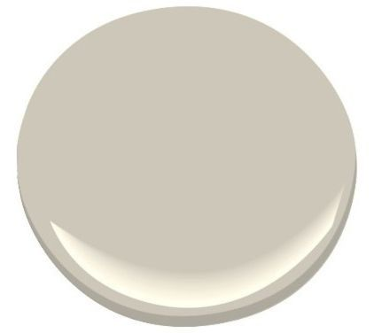 Benjamin Moore Revere Pewter - I think this is the one for the living room/hallway/Entrance