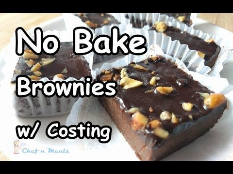 No Bake Brownies W Complete Costing Chocolate Fudge How To