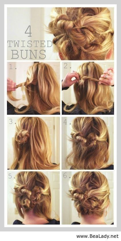Astounding Cute Hairstyles Twisted Bun And Hair Updo On Pinterest Hairstyle Inspiration Daily Dogsangcom