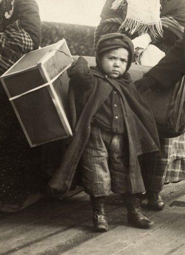 Arriving at Ellis Island, New York.