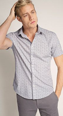 Esprit / Hemd mit Allover-Prints, 100% Baumwolle