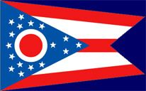 """Ohio's State Flag (Entered the Union on March 1, 1803, 17th state) ~ Origin of Name: From the Iroquois Indian word for """"good river"""" ~ State Motto: With God all things are possible ~ State Song: """"Beautiful Ohio"""" ~ National Forest: 1; State Forests: 20 and State Parks: 73 ~ Famous for: Rock & Roll and Football Hall of Fame"""