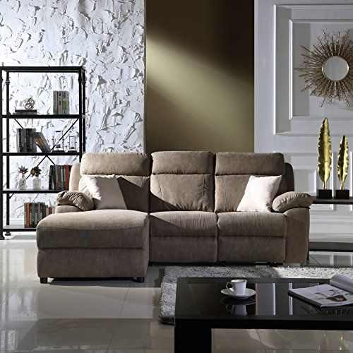 Classic Traditional Small Space Reclining Sectional Sofa Https