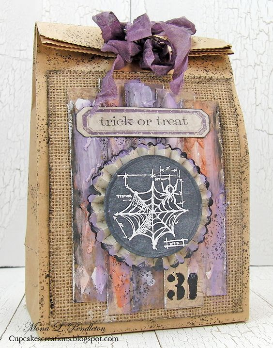 Created by Mona for the Simon Says Stamp Monday challenge (Treats) October 2014