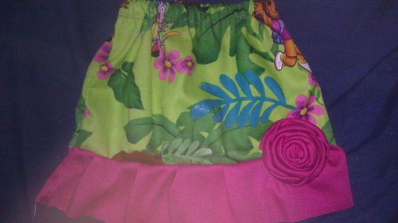 Dora jungle themed skirt and vest by tjantnesh on Etsy, $15.00