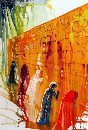 Salvador Dali - Wailing Wall - Signed litho hanging in my family room, I can look at this for hours